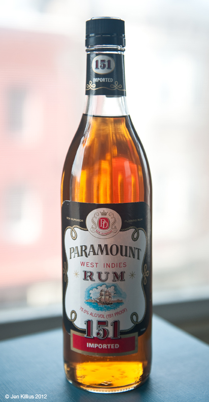 Paramount 151 Flaming Rum